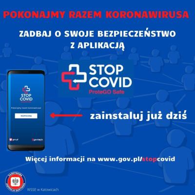 grafika do wpisu: Aplikacja STOP COVID ProteGo Safe